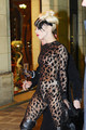 Lady Gaga arrives to Maxim's restaurant in Paris