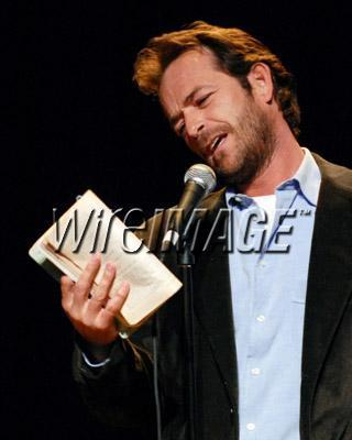 Luke Perry performs for Celebrity Autobiography
