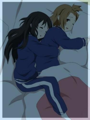 Mio's sleeping position