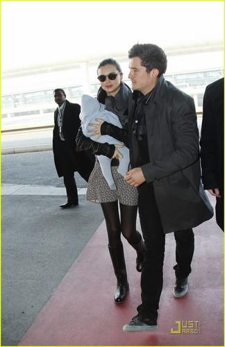 Miranda Kerr & Orlando Bloom Take Flight with Flynn