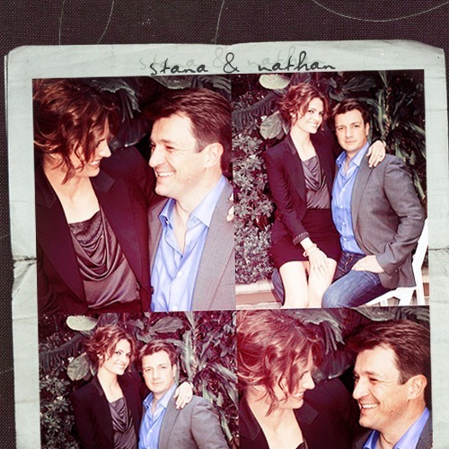 Nathan Fillion & Stana Katic karatasi la kupamba ukuta with a business suit entitled Nathan&Stana <3