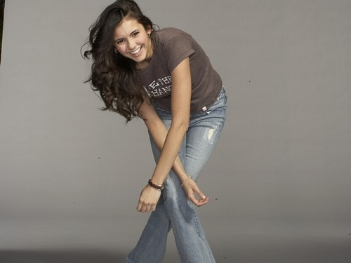 Nina Dobrev wallpaper probably with a jean, bellbottom trousers, and a pantleg entitled Nina Dobrev ❤