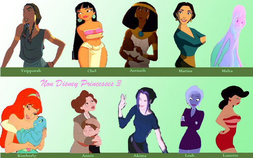 Childhood Animated Movie Heroines پیپر وال titled Non-Disney Princess Set 3