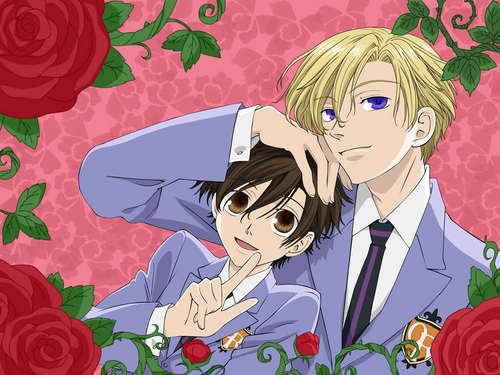 Tamaki and Haruhi fond d'écran