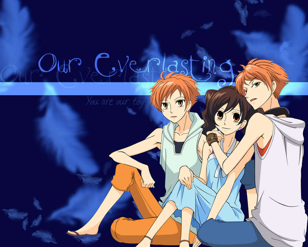 Twins and Haruhi wallpaper