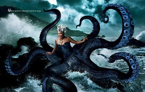 Disney wallpaper called Queen Latifah as Sea Witch Ursula