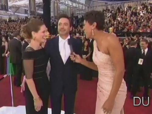 Robert &Susan at the Oscars Red Carpet