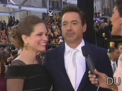 Robert &Susan at the Oscars Red Carpet
