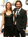 Santiago &amp; his Wife Anna Marcea - merlin-on-bbc photo