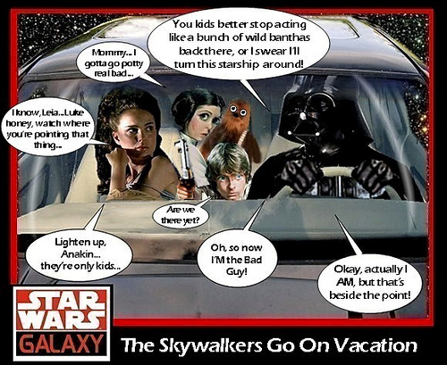 Skywalker family trip O_o