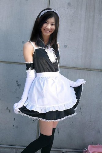 SCANDAL achtergrond with a gathered rok entitled Tomomi in maid costume!!! X3
