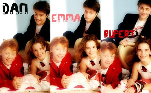 Trio- Hermione-Ron-Harry