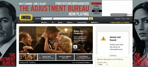 Water for Elephants featured on imdb front page #WFE