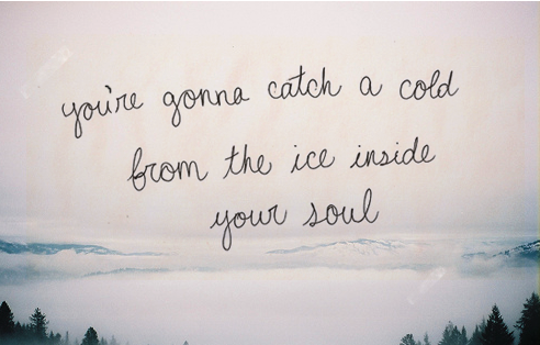 You're gonna catch a cold...