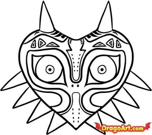 for those who want to draw (majora's mask)