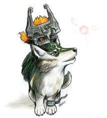 midna and link serigala form