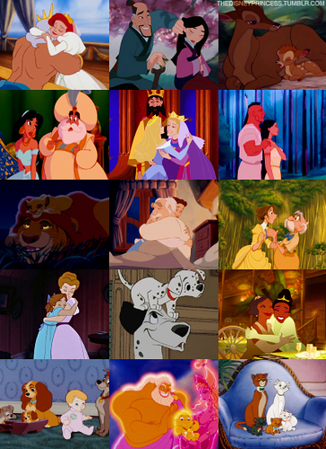 Disney Couples wallpaper entitled mother, father and kids