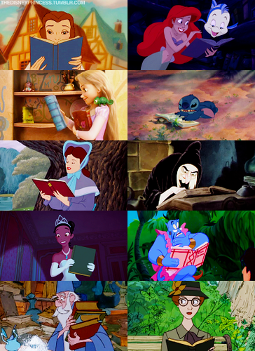Disney Couples wallpaper titled reading
