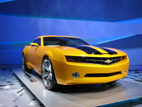 Transformers Wallpaper Containing A Sports Car Entitled The Real Bumblebee