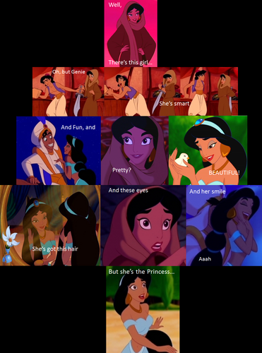Aladdin's description of Jasmine :)