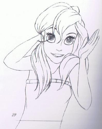 Walt Disney Sketches - Princess Ariel