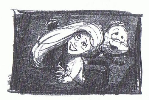 Walt Disney Sketches - Princess Ariel & bot