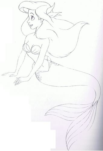 Walt ডিজনি Sketches - Princess Ariel