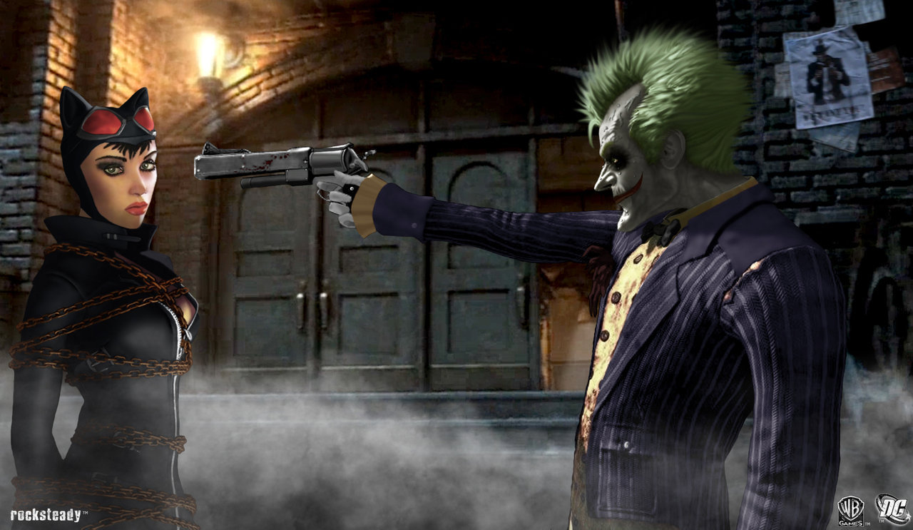 Batman Arkham City Images Catwoman Vs Joker HD Wallpaper And Background Photos
