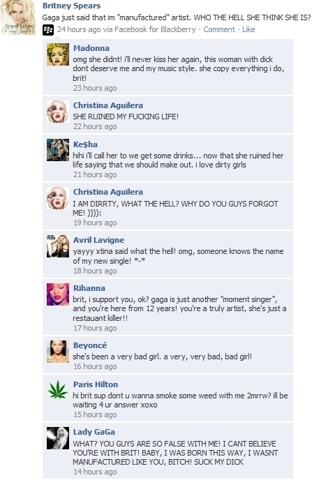 Celebrity facebook. =D