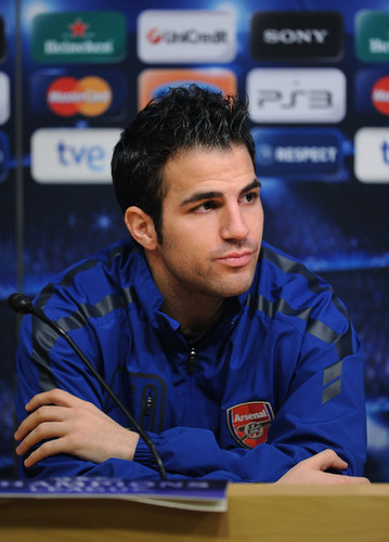 Cesc at Arsenal Press Conference