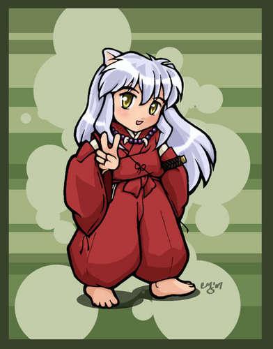Inuyasha karatasi la kupamba ukuta containing anime entitled Chibi Inuyasha
