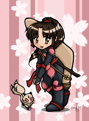 Inuyasha wallpaper possibly containing anime called Chibi Sango