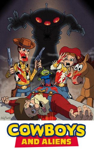 Cowboys and Aliens / Toy Story mashup