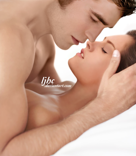 série crepúsculo wallpaper containing skin entitled Edward & Bella,Breaking Dawn,Hot Pics