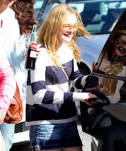 Elle Fanning At Artisan Cheese Gallery in Studio City