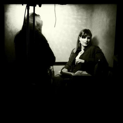 Emily on set!