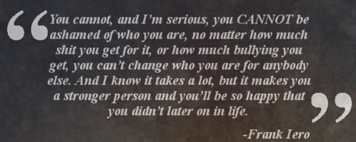 Frank Iero wallpaper entitled FRank quote