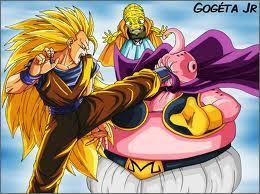 Goku smashing Buu
