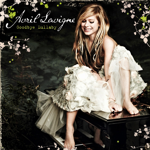 Avril Lavigne پیپر وال possibly containing a کاک, کاکٹیل dress and a dress titled Goodbye Lullaby [FanMade Album Cover]