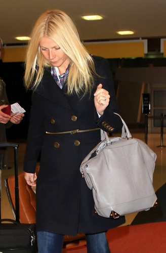 Gwyneth arriving at JFK