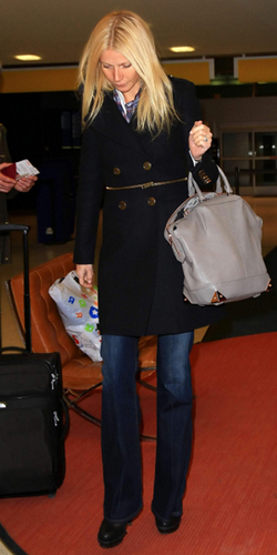 Gwyneth arriving at JFK