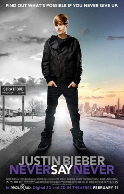bieber never say never poster. the big screen, et Justin
