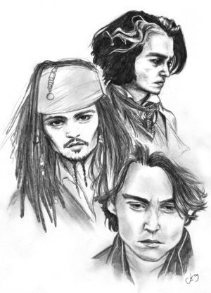Johnny Depp Character Sketches