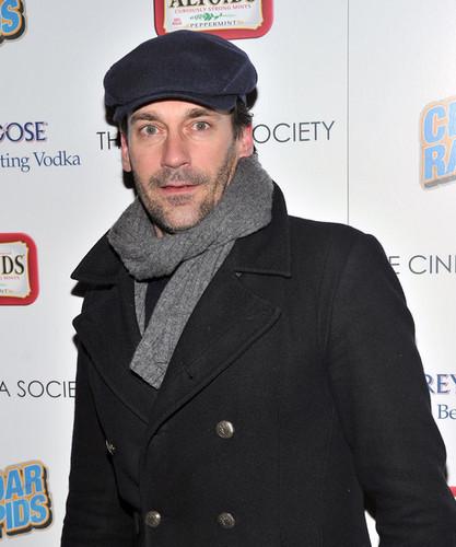 "Jon Hamm - The Cinema Society And Altoids Host A Screening Of ""Cedar Rapids"" - Arrivals"