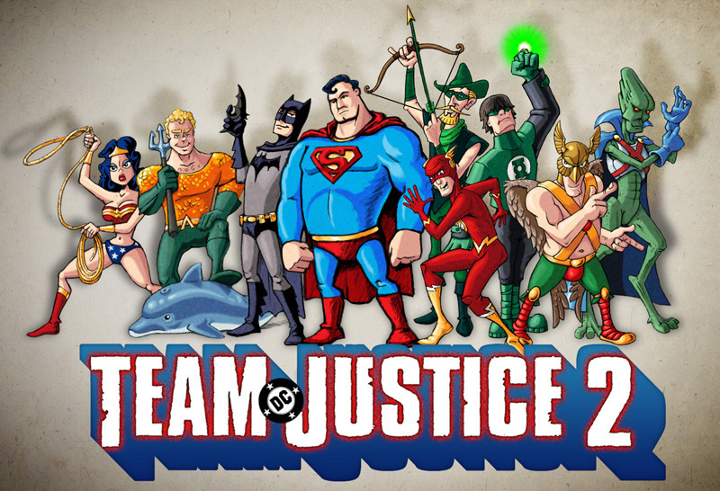 DC Comics Justice League / Team Fortress Mashup
