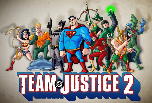 Justice League / Team Fortress mashup