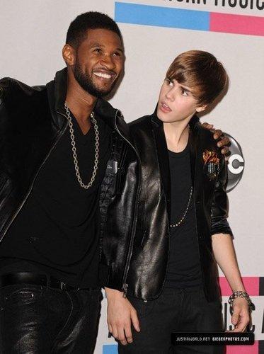 Justin and Usher ! LOL haha