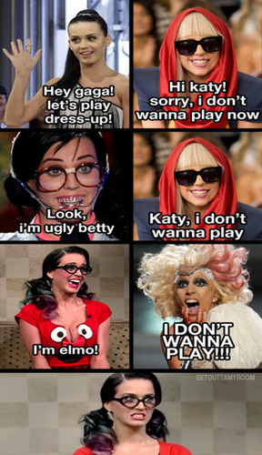 Katy Perry and Lady Gaga play Dress-up