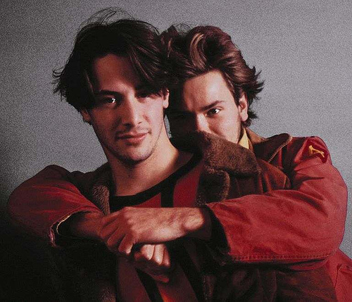 River Phoenix & Keanu Reeves wallpaper with a portrait titled Keanu & River
