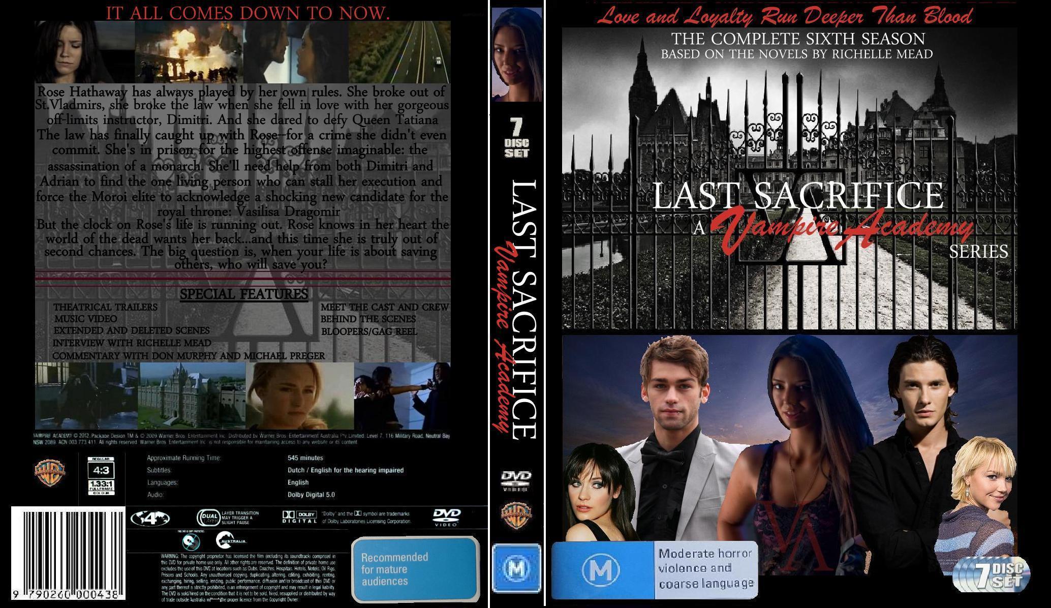 Vampire Academy Dvd Cover Last Sacrifice Dvd Cov...